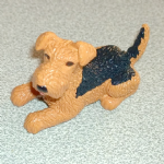 Dusty Airedale Terrier  Vintage Puppy in my pocket dogs 1993